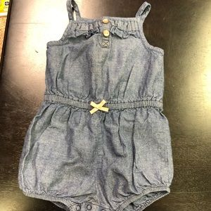Carters Tank Denim Romper
